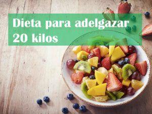 dieta para adelgazar 20 kilos